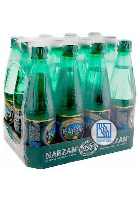 Минеральная вода НАРЗАН 0,5л газ. ПЭТ 12шт/уп.