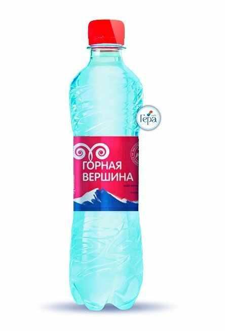 Минеральная вода «Горная вершина» газ. 0,5л (в упк. 12 шт)