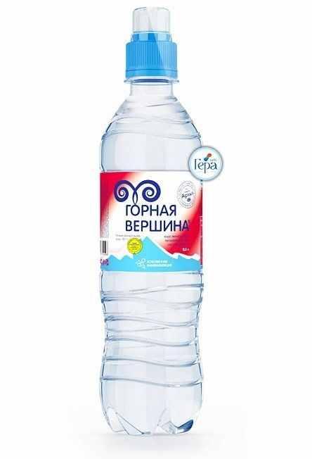 Минеральная вода «Горная вершина» негаз. 0,5л СПОРТ (в упк. 12 шт)
