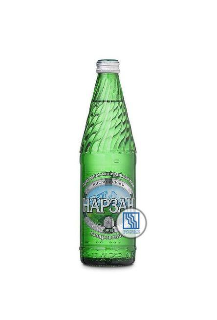 Минеральная вода НАРЗАН 0,5л газ. Стекло 12шт/уп.
