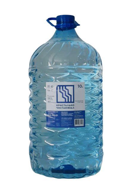 Кристально чистая вода 10л негаз. ПЭТ