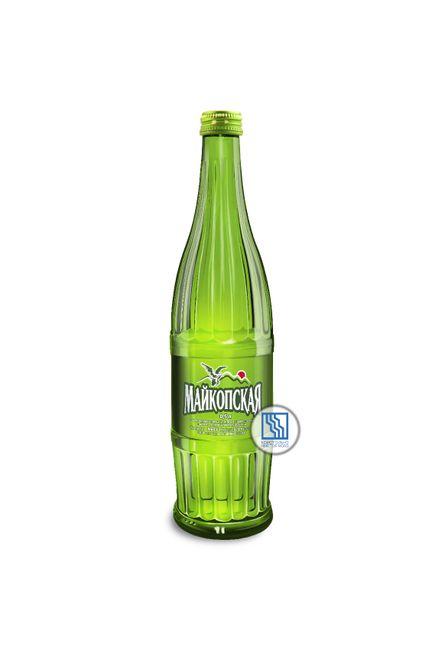 Минеральная вода «Майкопская» 0,5л газ. Стекло 12шт/уп.